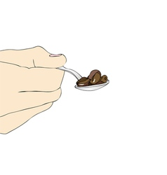 A teaspoon of coffee vector image vector image
