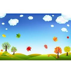Autumn Cartoon Landscape vector image vector image