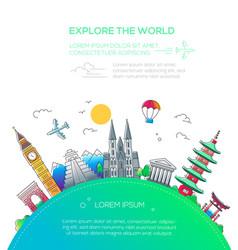 Explore the world - flat design travel composition vector