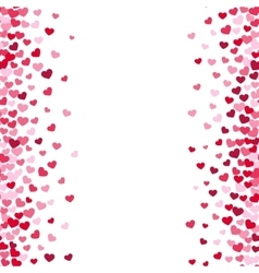 Lovely romance valentine white backgrouns with vector image