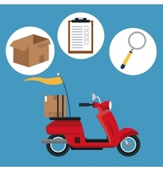 motorcycle transport shipping delivery concept vector image vector image