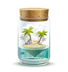 Piece of paradise vector image
