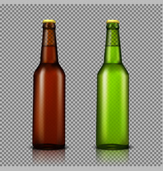 realistic set of transparent vector image vector image