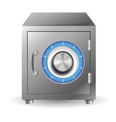 bank safe concept vector image