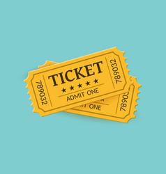 cinema tickets on background retro style vector image