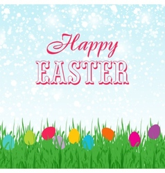 Easter background with copyspace in the sky vector image
