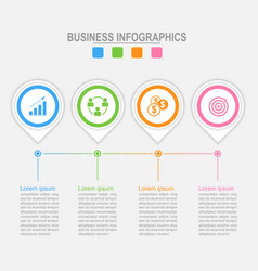 four options infographic template for your design vector image vector image