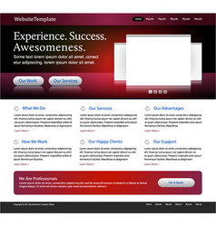 red website template vector image