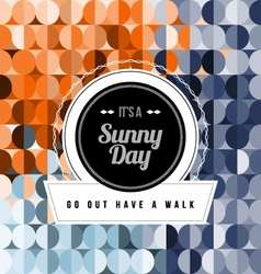 Seamless Geometric Pattern Sunny Day vector image vector image