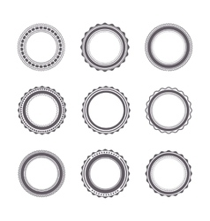 Set of emblems vector image vector image