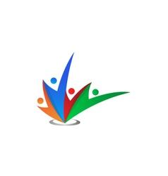 Abstract colorful social network logo icon vector
