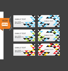 abstract creative triangle business card template vector image