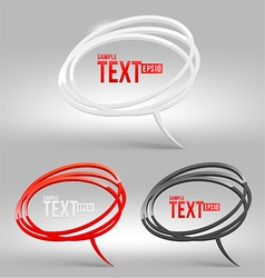 Abstract glossy speech bubbles vector