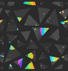 abstract triangle seamless pattern with colored vector image
