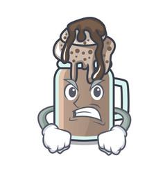 angry milkshake mascot cartoon style vector image