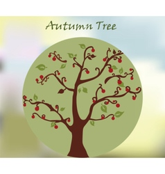 Autumn environment tree with leaves vector