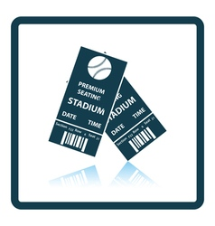 Baseball tickets icon vector image