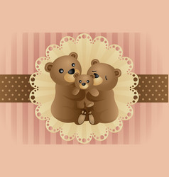 bear family hugging vector image