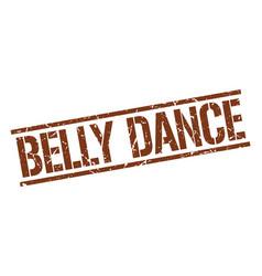 Belly dance stamp vector