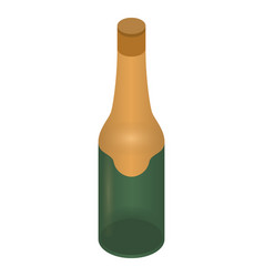 birthday champagne bottle icon isometric style vector image