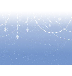 blue card banner snowflakes new year garland vector image
