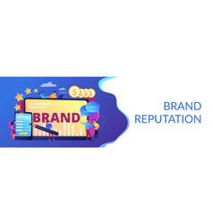 Brand reputation concept banner header vector
