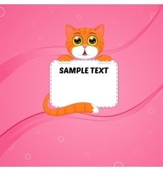 Card with kitten vector
