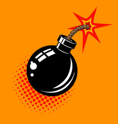 cartoon bomb with fire design element in vector image