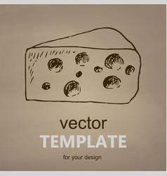 cheese hand drawn vector image