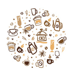 coffee banner template coffee shop cafe poster vector image