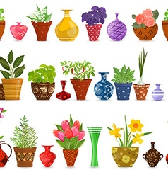 collection isolated seamless borders with herbs vector image