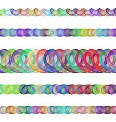 Color fractal divider line design set vector