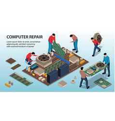 Computer repair service vector