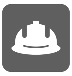 Construction Helmet Flat Squared Icon vector