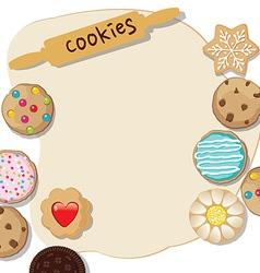cookies template vector image