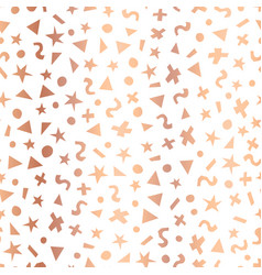 copper foil geometric shapes seamless vector image