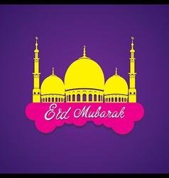 creative Eid Mubarak Islamic festival greeting vector image