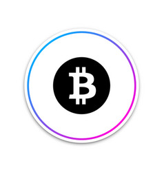 cryptocurrency coin bitcoin icon on white vector image