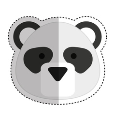 Cute bear panda character icon vector