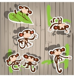 cute monkey fun vector image