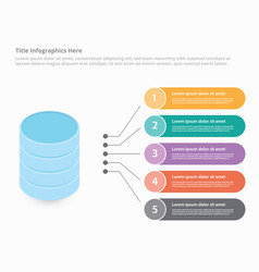Database data center with isometric style vector