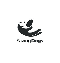 Dog care pet care animal care logo vector