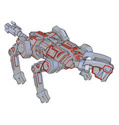 dog robot on white background vector image