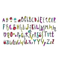 Doodle colorful kids alphabet vector