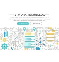 Elegant thin line flat modern Network vector