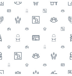 Employee icons pattern seamless white background vector