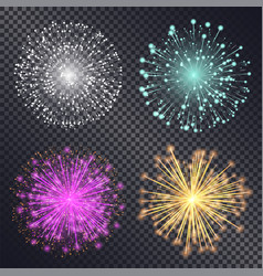 firework decorative pyrotechnics for holidays vector image