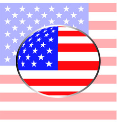 flag of the united states in form globe vector image