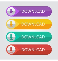 flat buttons download vector image