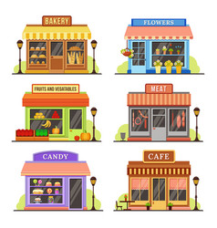 flat store modern shop boutique shopfront and vector image